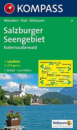 Salzburg Lakes 1:50,000 Hiking Map KOMPASS Kompass