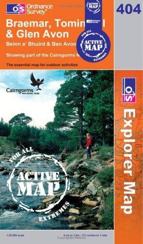 Braemar, Tomintoul and Glen Avon Ordnance Survey