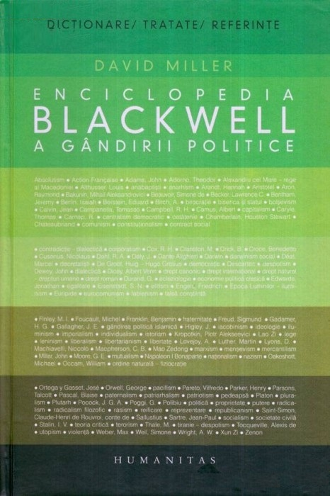 Enciclopedia Blackwell a gândirii politice  by  David    Miller