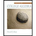 College Algebra - Textbook Only David Cohen