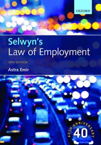 Selwyns Law of Employment Astra Emir