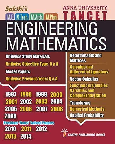 TANCET M.E ENTRANCE - ENGINEERING MATHEMATICS Dr. D. ANTONY XAVIER