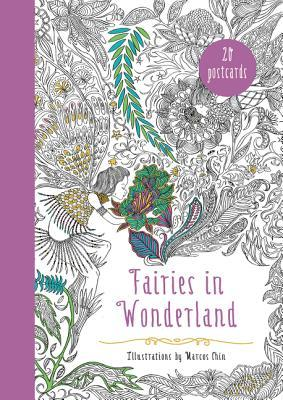 Fairies in Wonderland 20 Postcards: An Interactive Coloring Adventure for All Ages Marcos Chin