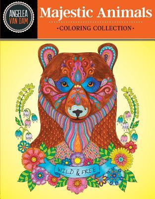 Hello Angel Majestic Animals Coloring Collection  by  Angela Van Dam