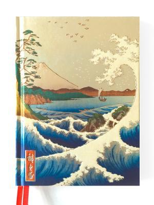 Hiroshiges Sea at Satta (Blank Sketch Book)  by  Flame Tree