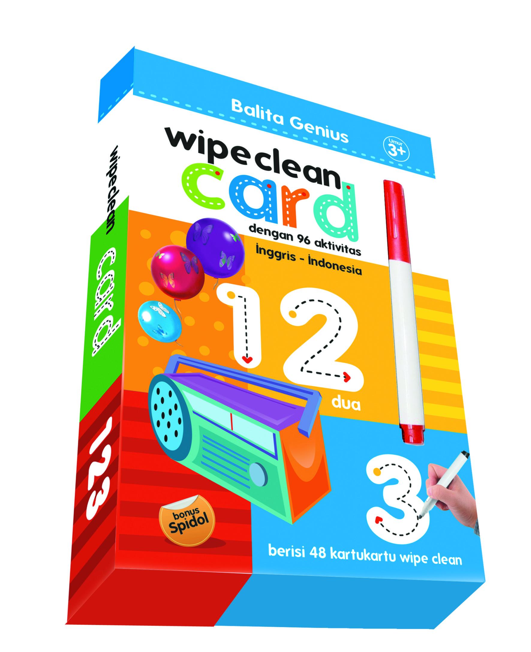 Wipe clean card : Balita genius - 123 Sita