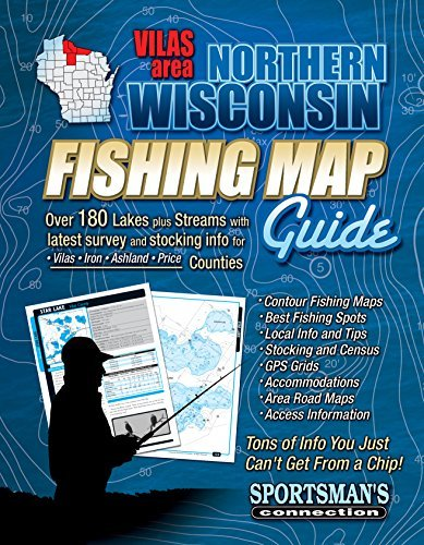 Northern Wisconsin Fishing Map Guide - Vilas Area Sportsmans Connection