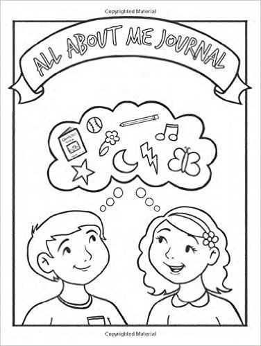 All About Me Childrens Coloring Journal Lauren Beck