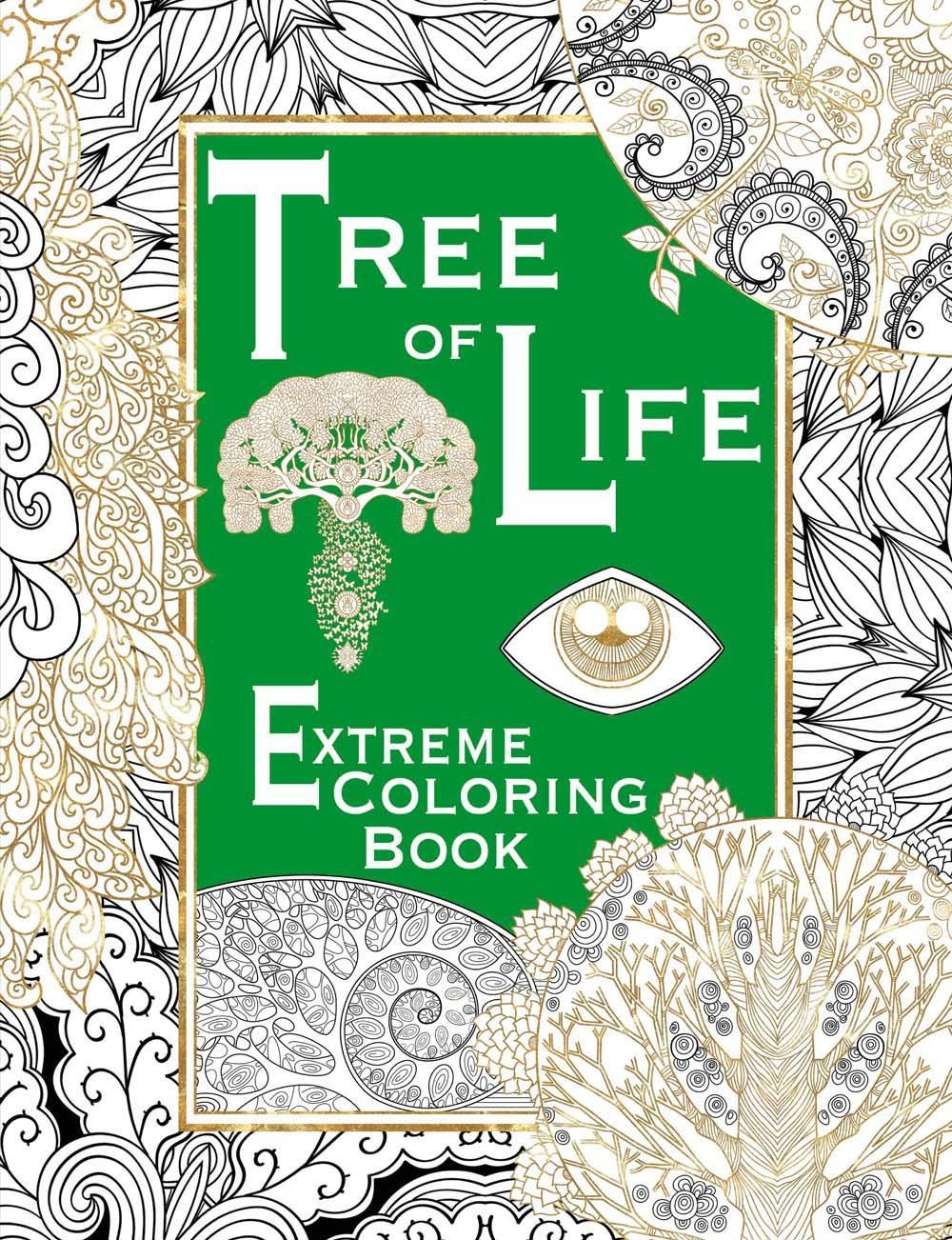 Tree of Life: Extreme Coloring Book Salariya