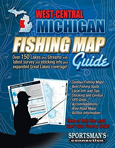 West-Central Michigan Fishing Map Guide  by  Sportsmans Connection