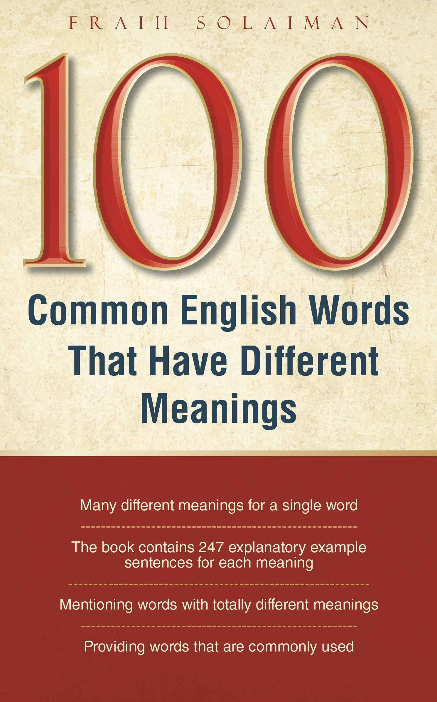 100 Common English Words That Have Different meanings Fraih Solaiman
