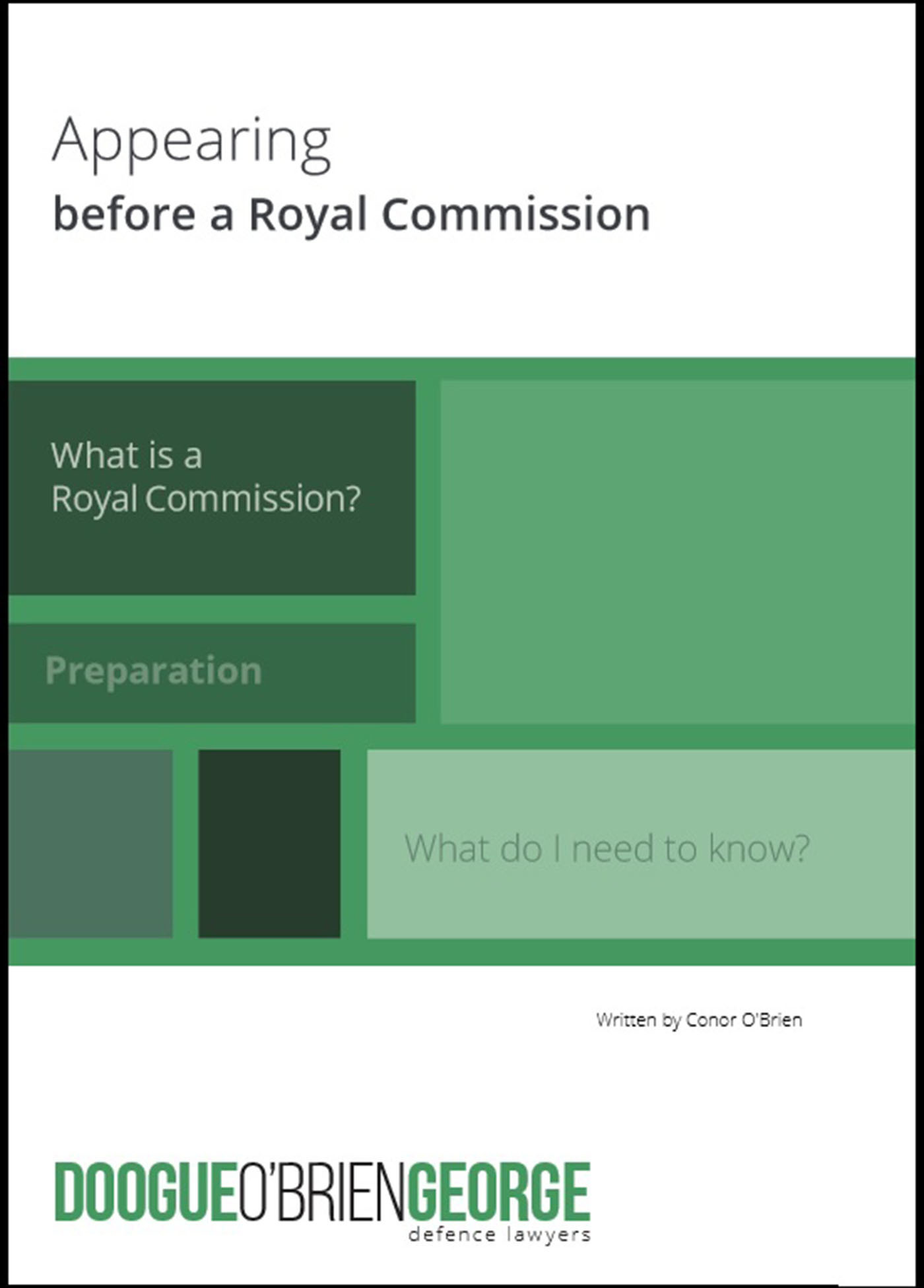 Appearing Before a Royal Commission Conor OBrien