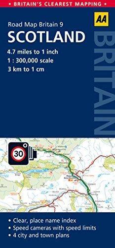 Road Map, Scotland (AA Road Map Britain Series - 9) AA Publishing
