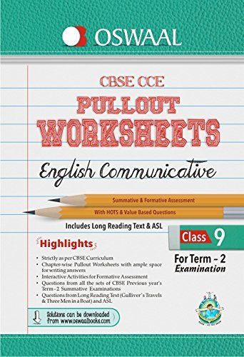 Oswaal CBSE CCE Pullout Worksheet For Class 9 Term II (October to March) English Communicative Panel of Experts