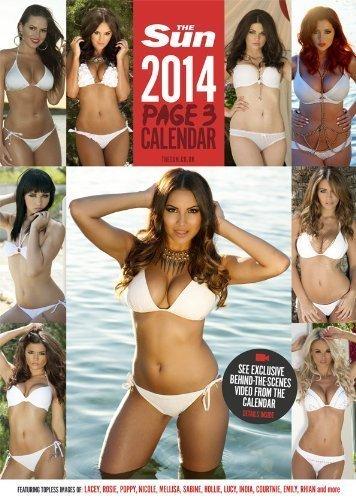The Sun Page 3 Calendar 2014 www.calendargirlsuk.com