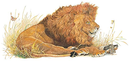 Lion and mouse fable