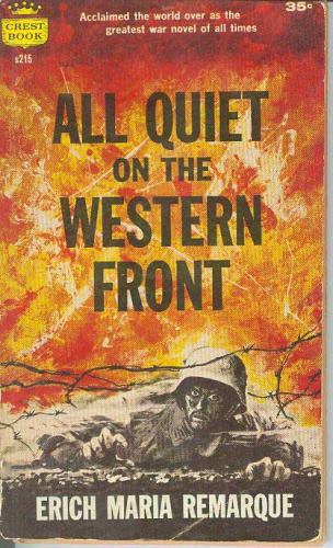 an excerpt analysis in all quiet on the western front a novel by erich maria remarque Erich maria remarque explains this through his character paul bäumer in the excerpt of his novel all quiet on the western front paul is explaining the effects that war on the front can leave with a soldier, the hopelessness, instinct of an animal, and appreciation for things as simple as the earth that we walk on.