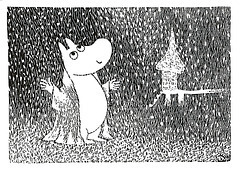 Illustration from Tove Jansson's book Moominland Midwinter