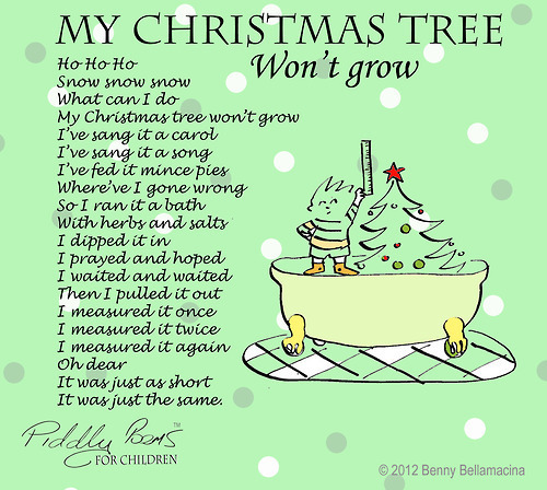 """Poem About A Christmas Tree: """"My Christmas Tree Won't Grow"""
