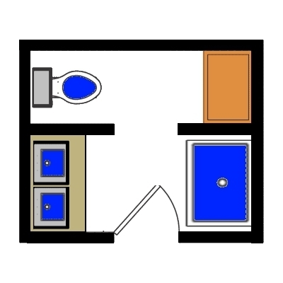 Sara pierce 39 s blog bathroom floor plans april 05 2013 for Bathroom designs 5 x 9