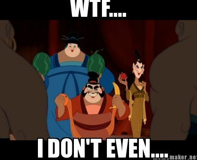 Just watched Mulan. and this scene came up where the 3 soldier discuised as woman... Soon after they revel there identity and take out the fruits they used as t