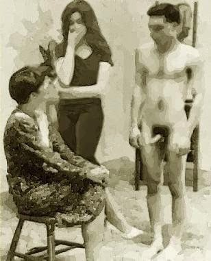 Ladies nudist blowjob