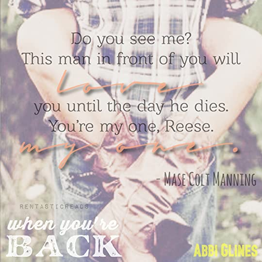 When You're Back Teaser #1 - #RentasticReads #BabblingChatterReads