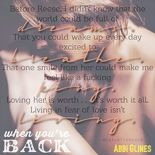 When You're Back Teaser #2 - #RentasticReads #BabblingChatterReads