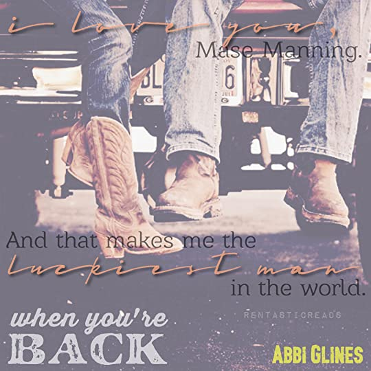 When You're Back Teaser #4 - #RentasticReads #BabblingChatterReads