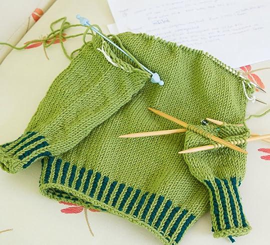 knitting camp, mini sweater