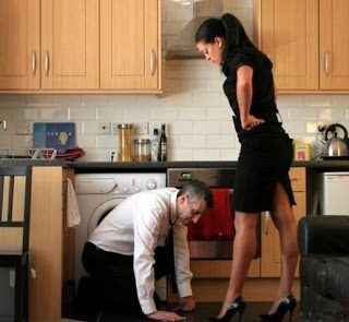 image Strict femdom mistress educating her slave